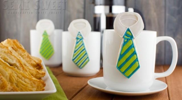 Hanging Neck Tie Cookies from Semi Sweet Designs