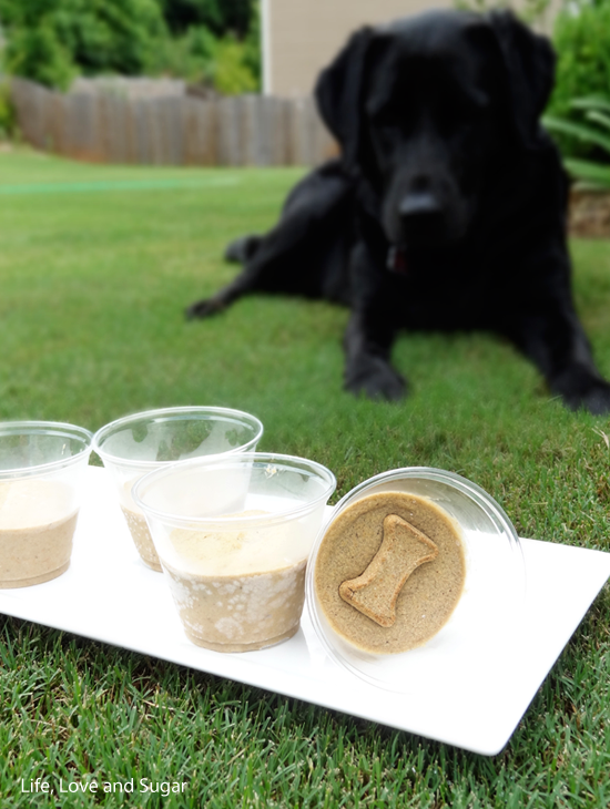 Frozen Peanut Butter Banana Dog Treats