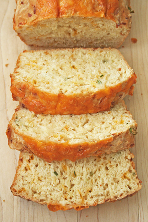 Cheesy Beer Quick Bread by Gotta Get Baked